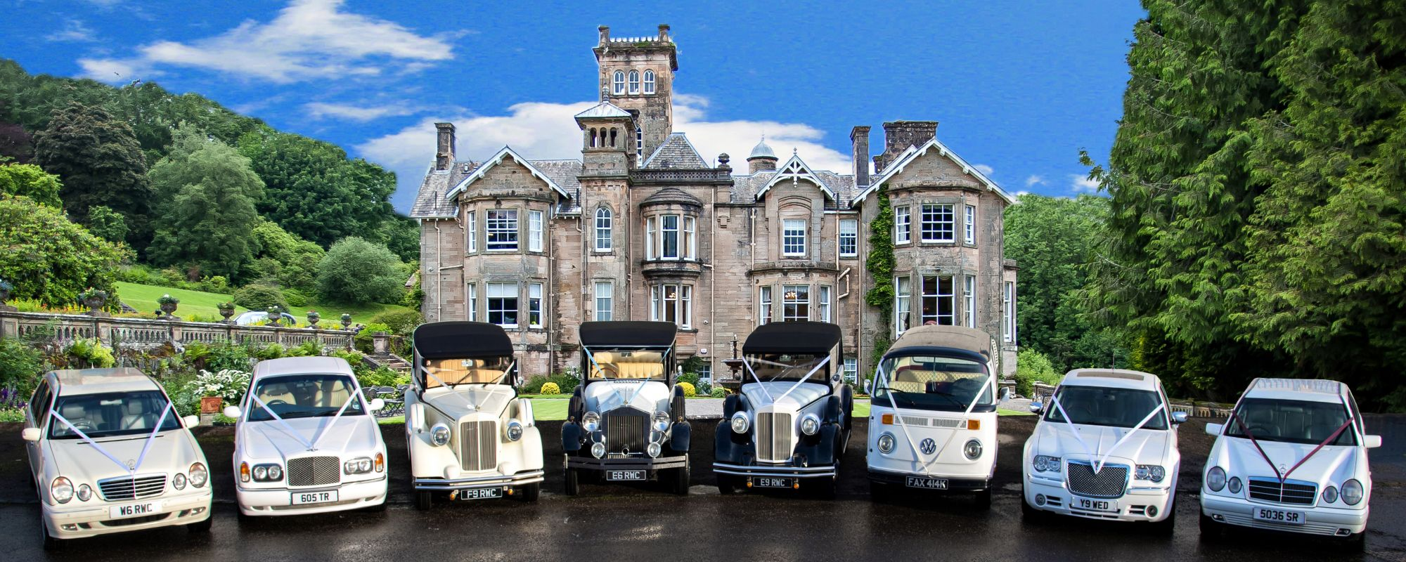 Wedding Cars Glasgow Rennick S Wedding Cars Tel 0141 6385053